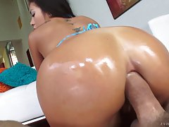 Adorable girl, Morgan Lee got a dick up her ass and had a ve...