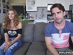 Smoking hot babe fell in love with her step- brother and dec...