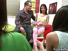 Insatiable college girls are getting banged in the dorm, ins...