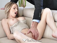 Great looking housewife with blonde hair, Jenna Jones fucked...