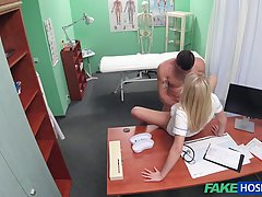 Naughty blonde nurse is having steamy sex with her handsome ...