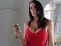 Lacey and a big titted milf are making love with each other ...
