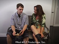 Hot woman seduced a college student, because she wanted to s...