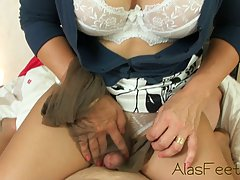 Mature blonde woman needs orgasms every once in a while, eve...