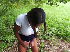 Black babe, Lola Chanel is getting nailed in the nature, aft...