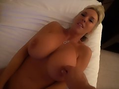 Lusty blonde milf went to a hotel room with her husband&...