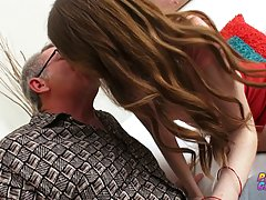 Maya Kendrick seduced her elderly tutor and asked him to fuc...
