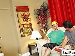 Ava and Dava had hots for a handsome construction worker and his buddy, and fucked them