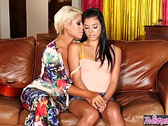 Busty blonde woman, Bridgette B and a sweet teen brunette ar...