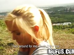Lovely amateur blonde, Veronika is getting fucked in the nat...