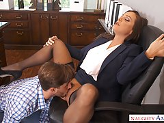 Business woman, Abigail Mac needs a break and a good fuck, u...