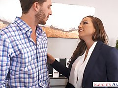 Business woman, Abigail Mac needs a break and a good fuck, until she starts screaming from pleasure