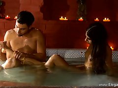 Handsome man is about to have a sensual sex session with an ...