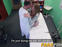 Cute brunette got fucked in the hospital, thinking that it was part of her therapy