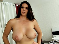 Voluptuous brunette with big tits, Alison Tyler likes to suc...