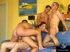 Mary Gang is getting gangbanged while her husband is not at ...