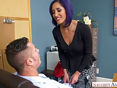 Horny office lady, Chloe Amour was caught rubbing her pussy,...