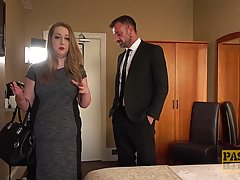 Big ass blonde, Kitten is having anal sex with her lover, in a hotel room