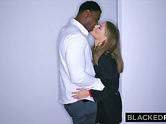 Black guy is fucking a sweet, white babe all night and enjoy...