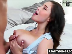 Noelle Easton is a chubby brunette with big, bouncy tits who...