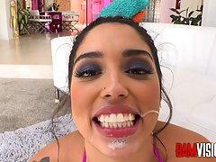 Latin beauty, Vanessa Sky has hooked up with Mick Blue and g...