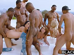 Group, interracial sex during a private pool party is always...