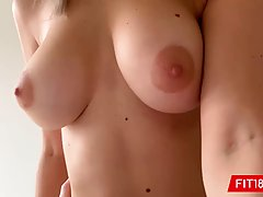 Skinny babe, Eva went to her first porn video casting and ha...