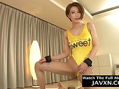 Slim, Japanese milf is riding a rock hard dick in a hotel ro...