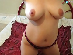 Brunette with big tits is about to suck dick for cash and ma...