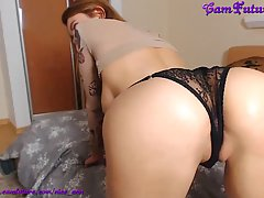 Big titted babe is masturbating on webcam every once in a wh...