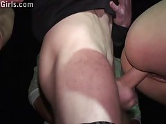 Slutty blonde got fucked through a car window in the middle ...