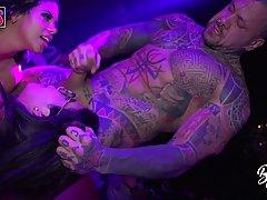 Gorgeous Ortega pornstars are having wild sex on the stage, ...