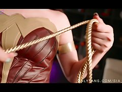 Wonder Woman is ready for some action and likes sex toys as ...