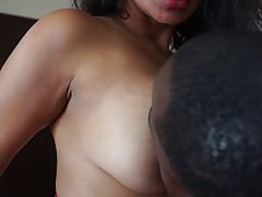 African dude and Indian woman, Maya are fucking like wild an...