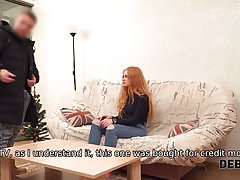Cute redhead is getting fucked from the back and about to st...