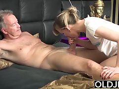 Horny blonde with natural tits and perky nipples is having c...