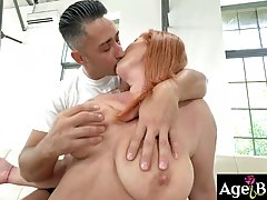 Tammy is a big titted, red haired mature who likes to suck a...