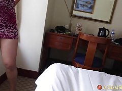 Sexy Filipina is getting fucked in a doggy- style position a...
