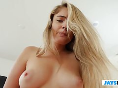 Lexy uses her skilled fingers on her clit before she visit h...