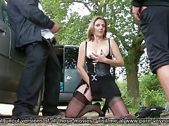 Horny maturewoman in erotic stockings is having casual sex i...