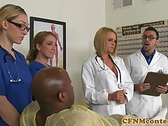 A horny black patient is fucking a sweet nurse who loves to ...