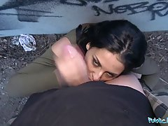 Public Agent Outdoor orgasms for Serbian beauty...