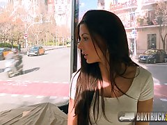 Alexa Tomas is having casual sex in a public place with a gu...