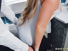 Alessandra Jane and her boss are secretly fucking in a rente...