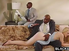 Black man always wanted to fuck a beautiful blonde slut, unt...