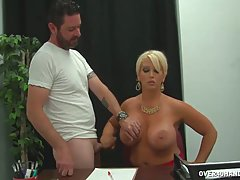 Busty blonde teacher is using an opportunity to have casual ...